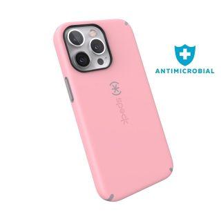 A speciális Microban felületvédelemmel ellátott Speck CandyShell Pro iPhone 13 Pro ütésálló tok beépített sarokvédelemmel is óvja a készüléket a mechanikai sérülések hatásától.