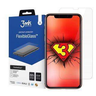 A 3mk FlexibleGlass iPhone 12 / 12 Pro kijelzővédő üvegfólia Fit-In poziconáló fülekkel támogatja a könnyű és buborékmentes felhelyezést.