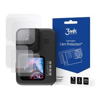 3mk GoPro Hero 9 / 10 lencse + előlapi + hátlapi kijelzővédő üveg (2+2+1 db)