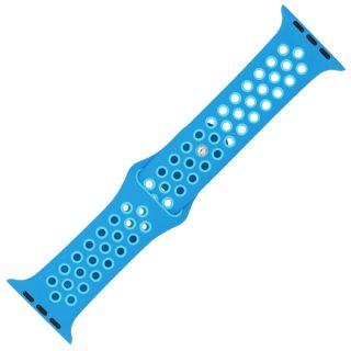 Watch 44mm / 42mm lélegző Sport szíj - kék/világoskék