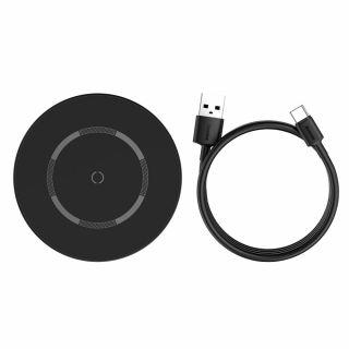 Baseus Simple 15W MagSafe iPhone Qi vezeték nélküli gyorstöltő - fekete