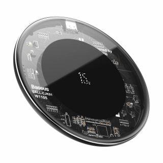 Baseus Simple 15W Qi vezeték nélküli gyorstöltő - átlátszó