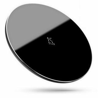 Baseus Simple 15W Qi vezeték nélküli gyorstöltő - fekete