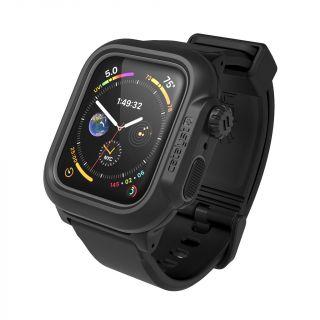 Catalyst Waterproof Apple Watch 44mm vízálló tok és szíj - fekete