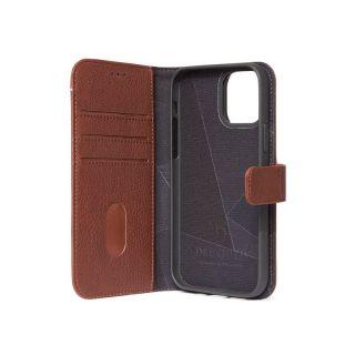 Decoded 2in1 Wallet iPhone 12 / 12 Pro kinyitható bőr tok - barna