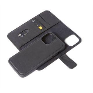 Decoded 2in1 Wallet iPhone 12 / 12 Pro kinyitható bőr tok - fekete