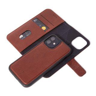 Decoded 2in1 Wallet iPhone 12 mini kinyitható bőr tok - barna