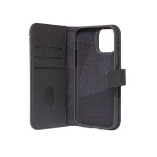 Decoded 2in1 Wallet iPhone 12 mini kinyitható bőr tok - fekete