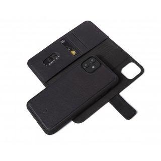 Decoded 2in1 Wallet iPhone 11 kinyitható bőr tok - fekete