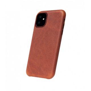 Decoded Back Cover iPhone 11 bőr tok - barna
