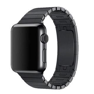 Devia Apple Watch 44mm / 42mm láncszemes fém szíj - fekete
