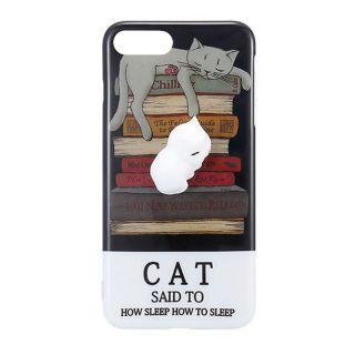 iPhone SE (2020) / 8 / 7 3D pufi tok - könyves cica