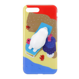 iPhone SE (2020) / 8 / 7 3D pufi tok - sárga mintás fóka