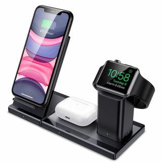 ESR 3in1 iPhone + Apple Watch + AirPods Qi vezeték nélküli töltő állvány