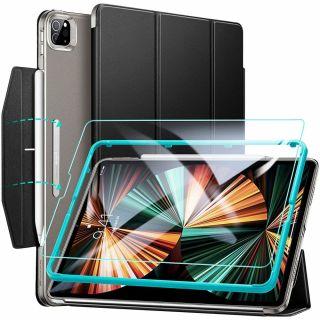 """ESR Ascend Trifold iPad Pro 12,9"""" (2021) tok és kijelzővédő üvegfólia - fekete"""