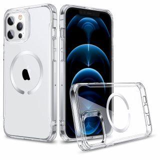 ESR CH Halolock MagSafe iPhone 12 / 12 Pro szilikon tok - átlátszó