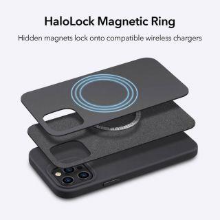 ESR Cloud Halolock iPhone 12 / 12 Pro mágneses szilikon tok - fekete