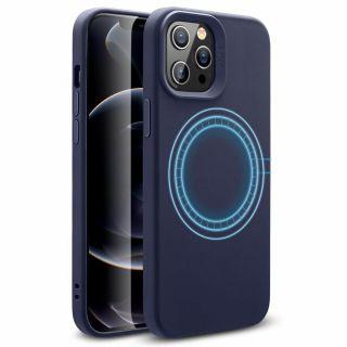 ESR Cloud Halolock iPhone 12 / 12 Pro mágneses szilikon tok - kék