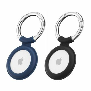 ESR Cloud Apple AirTag kulcstartó tok - kék+fekete