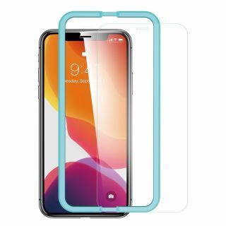 ESR Screen Shield iPhone 11 / XR kijelzővédő üveg + felhelyező