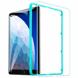"""ESR iPad 10,2"""" / Air 3 / Pro 10,5"""" kijelzővédő üveg felhelyezővel"""