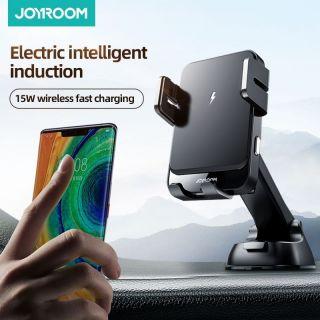 Joyroom Dash automata univerzális autós tartó és Qi vezeték nélküli töltő 15W