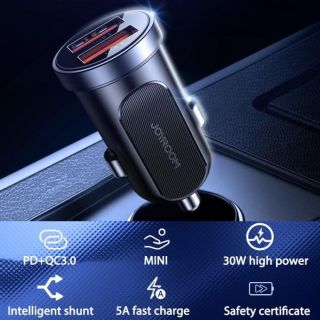 Joyroom Mini 2xUSB QC3.0 autós töltő adapter 30W