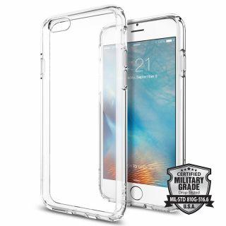 Spigen Ultra Hybrid iPhone 6/6s ütésálló tok - átlátszó