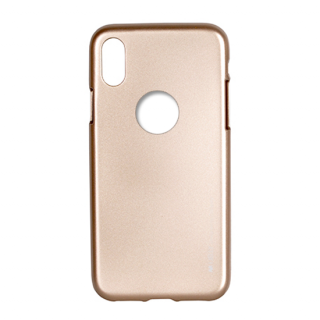 Goospery i-Jelly Metal iPhone XS/X szilikon tok - arany