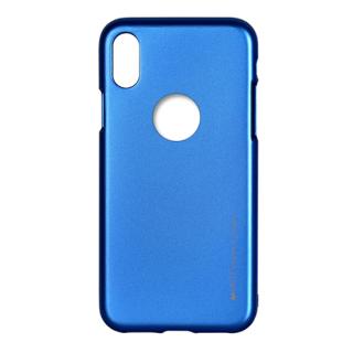 Goospery i-Jelly Metal iPhone XS/X szilikon tok - kék
