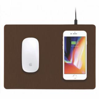 Minibatt PowerPad egéralátét és Qi vezeték nélküli töltő - barna