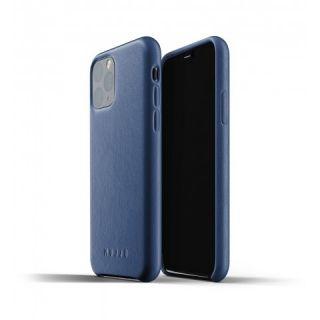 Mujjo iPhone 11 Pro bőr tok - kék