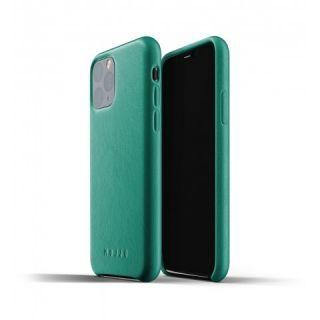 Mujjo iPhone 11 Pro bőr tok - zöld