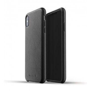 Mujjo iPhone XS Max bőr tok - fekete