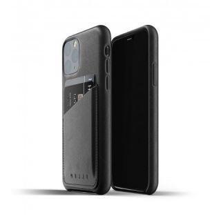 Mujjo Wallet iPhone 11 Pro bankkártyatartós bőr tok - fekete