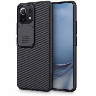 Nillkin CamShield Pro Xiaomi MI 11 LITE / 11 LITE 5G kameravédő hátlap tok - fekete