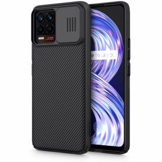 Nillkin CamShield Realme 8 / 8 Pro kameravédő hátlap tok - fekete