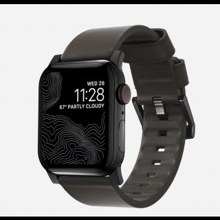 Nomad Active Apple Watch 44mm / 42mm bőr szíj - barna/fekete