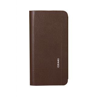 Ozaki O!coat Aim + iPhone 6 Plus / 6s Plus bőr tok - barna