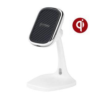 Pitaka MagEZ Mount Qi Desktop vezeték nélküli töltő és asztali tartó - fehér