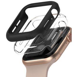 Ringke Slim Apple Watch 44mm tok - fekete és átlátszó - 2db