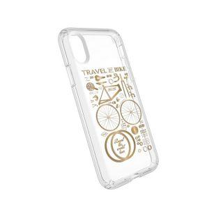 Speck Presidio Clear+Print iPhone X tok - átlátszó/arany minta