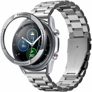 Spigen Chrono Shiel Samsung Galaxy Watch 3 45mm védőkeret - ezüst