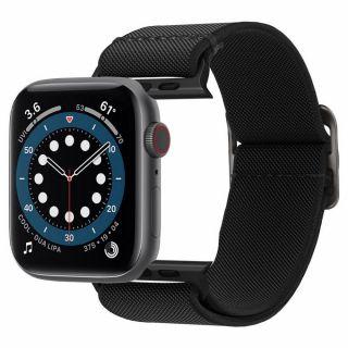 Spigen Fit Lite Apple Watch 44mm / 42mm szövet szíj - fekete