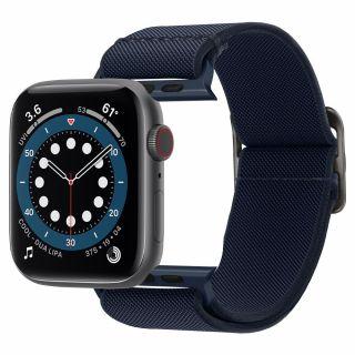 Spigen Fit Lite Apple Watch 44mm / 42mm szövet szíj - kék