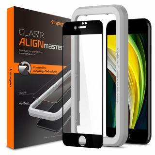 Spigen GLAS.tR AlignMaster Full Cover iPhone SE (2020) / 8 / 7 teljes kijelzővédő üveg + felhelyező