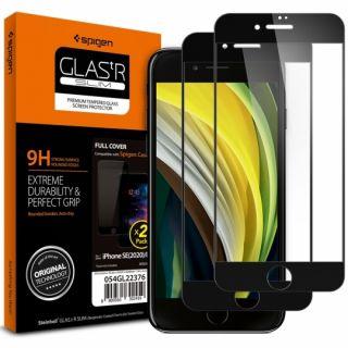Spigen GLAS.tR SLIM Full Cover iPhone SE (2020) / 8 / 7 teljes kijelzővédő üveg - 2db