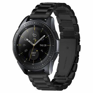 Spigen Modern Fit Samsung Galaxy Watch 42mm fém szíj - fekete