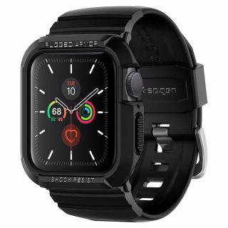 Spigen Rugged Armor Pro Apple Watch 40mm tok és szíj - fekete