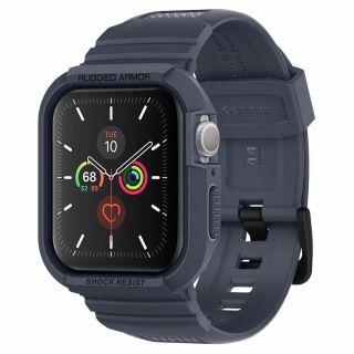 Spigen Rugged Armor Pro Apple Watch 44mm tok és szíj - szürke